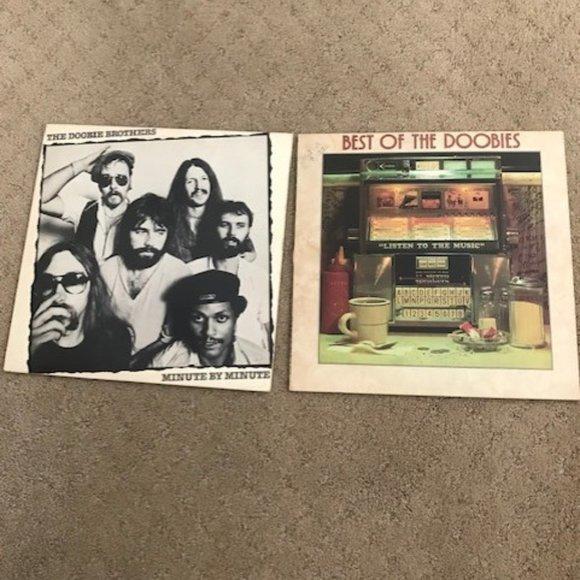 Doobie Brothers Set of 2 Vinyl Albums